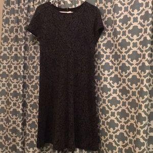 LOFT Black & Gray Dress